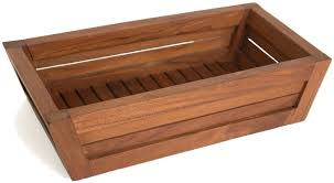 amazon com the original moa teak amenities tray bathroom