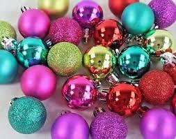 new shatter resistant mini ornaments multi bright colors