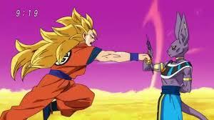 ssj3 goku beerus fight dragon ball super episode 5