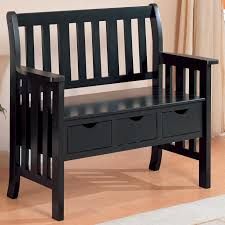 black wooden bench bench decoration