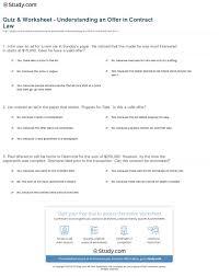 quiz u0026 worksheet understanding an offer in contract law study com