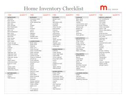 Excel Inventory List Template Household Inventory List Template Free Printable Resume Templates