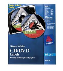 avery design pro avery cd labels glossy 20 disc labels and 40 spine labels 8942