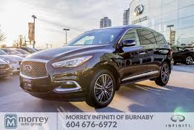 infiniti qx60 trunk space 2017 infiniti qx60 technology package no accident claim one bc