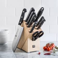 zwilling j a henckels twin gourmet 10 pc natural wood knife block