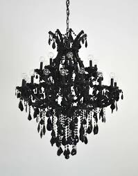 chandelier night stand l black glass maria theresa style chandelier at 1stdibs for plans 0
