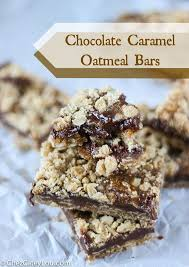 Oatmeal Bars With Chocolate Topping Chocolate Caramel Oatmeal Bars Recipe Oatmeal Bars Chocolate