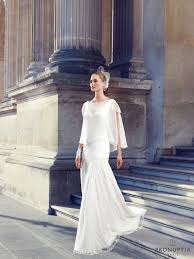 robe de mari e brest wedding dress white bohemian style silhouette fluid satin