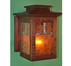 Mission Wall Sconce Ragsdale Mission Oak Arts And Crafts Lamps And Tables