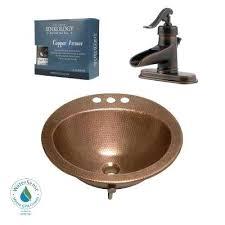 fantastic copper bathroom faucet all in one copper bathroom sink