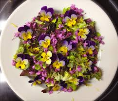 Salad With Edible Flowers - edible flowers easy plate appeal