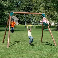 amazon com swing n slide pb 8330 orbiter wood complete swing set