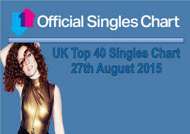 official charts uk top 40 singles 21st august 2015 27th