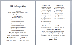 wedding program catholic spirals spatulas catholic wedding program