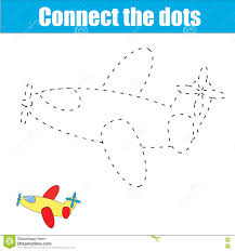 connect the dots children educational game stock vector image