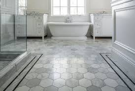 hexagon tile bathroom floor home design and decor