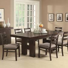 rectangular dining room tables with leaves 7 piece rectangular dining table set with pull out extension leaf