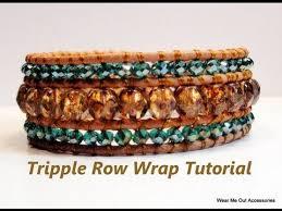 bead wrap bracelet leather images Diy triple row leather wrap bracelet part 1 jpg