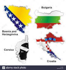 Bosnia Map Bosnia And Herzegovina Bulgaria Stock Photos U0026 Bosnia And