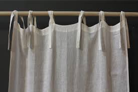 White Tie Curtains Stunning White Tie Top Curtains Decor With Linen Curtain Panel