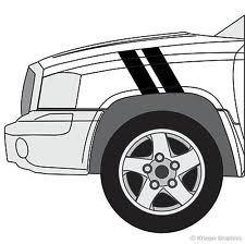 dodge dakota sport decals matte car truck decals stickers for dodge dakota ebay
