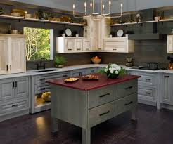 colored kitchen cabinets versatility in a tri colored kitchen kbis