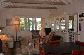 Living Room And Family Room by Maine Vacation Rentals Lake Properties Becker Cottage