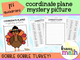 thanksgiving turkey coordinate planes mystery picture quadrant 1