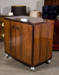 Compact Bar Cabinet Mid Century Modernist Bookmatched Rosewood Flip Top Bar Cabinet At