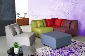 canape chauffeuse modulable canapé d angle modulable contemporain en tissu multicolore oracio