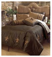 laredo embroidered star chocolate comforter set ws2018 cho