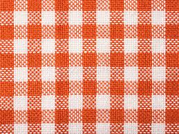 serviette de cuisine texture vérifiée par orange de serviette de cuisine photo stock