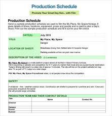 sample shooting schedule 12 documents in pdf word excel