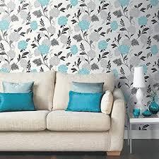 wallpaper for livingroom teal wallpaper for living room amazon co uk