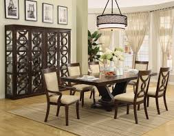 small formal dining room lovely ceramic flower vase contemporary dining room small formal wood trellis backrest round glass top table contemporary brown wooden chair unique
