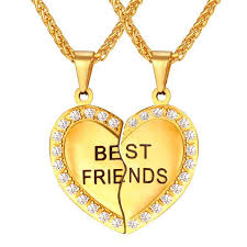 friend heart necklace images Brand heart necklace friendship jewelry friend pendant chains jpg