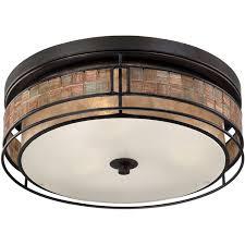 Quoizel Flush Mount Ceiling Light Quoizel Mclg1616rc Renaissance Copper Laguna 3 Light 16