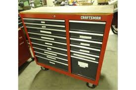 craftsman table top tool box craftsman roll around tool box 16 drawer butcher block top