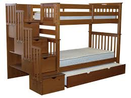 Bunk Beds Trundle Bedz King Stairway Bunk Bed With Trundle
