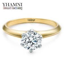 original wedding ring yhamni 18krgp st original yellow gold ring inlay 2ct sona