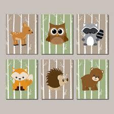 Woodland Animals Nursery Decor Woodland Nursery Woodland Animals Wall From Lovelyfacedesigns On