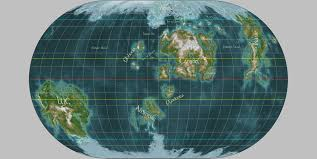 What Is A Map Projection World Map Of Nirn The Imperial Library