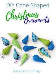 diy cone shaped christmas ornaments applegreen cottage
