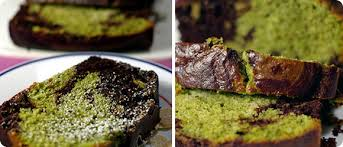 koyu matcha tea marble cake