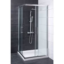 Shower Tray And Door by Aquariss 900mm Corner Entry Shower Enclosure With Easy Clean