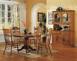 Light Oak Dining Room Sets Nostalgia 5 42 Inch Oval Dining Set With Press Back