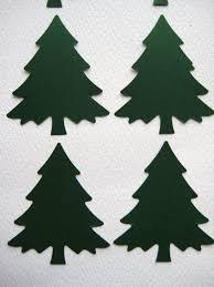 free die cut tree patterns 20 large evergreen