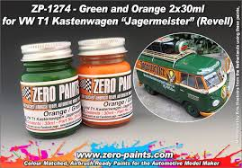 green and orange paint set 2x30ml for revell 07076 vw t1