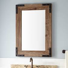 Wooden Bathroom Mirror Bonner Reclaimed Wood Vanity Mirror Pine Bathroom In Plan 3