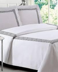 Black And White Comforter Full And White Loft 21 Greek Key Comforter Set